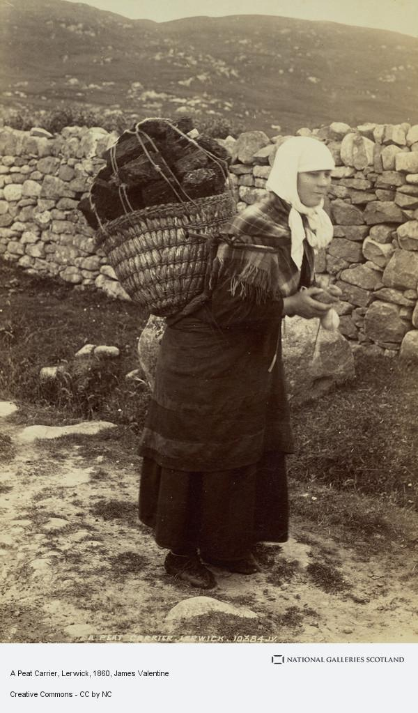James Valentine, A Peat Carrier, Lerwick