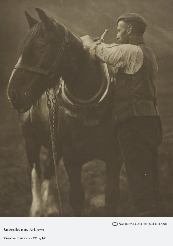 Unknown, Man and Horse