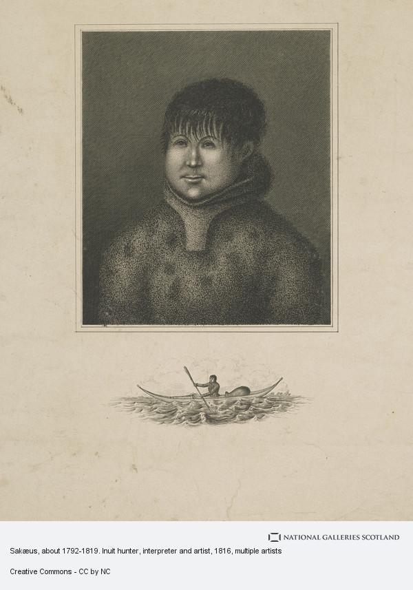 Amelia Anderson, John Sakeouse, 1797 - 1819. Inuit whaler and artist