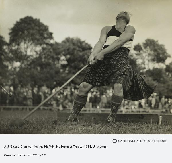 Unknown, A.J. Stuart, Glenlivet, Making His Winning Hammer Throw