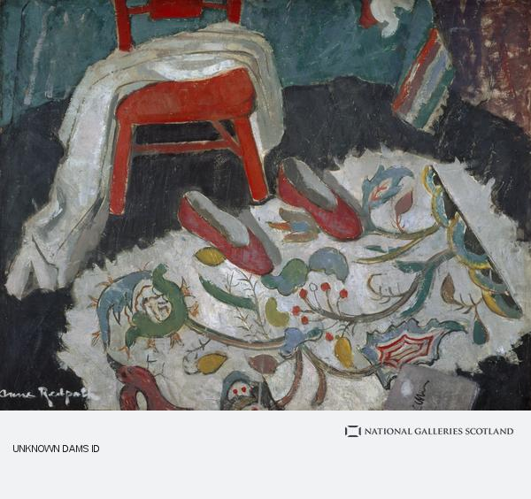 Anne Redpath, The Indian Rug (or Red Slippers) (About 1942)