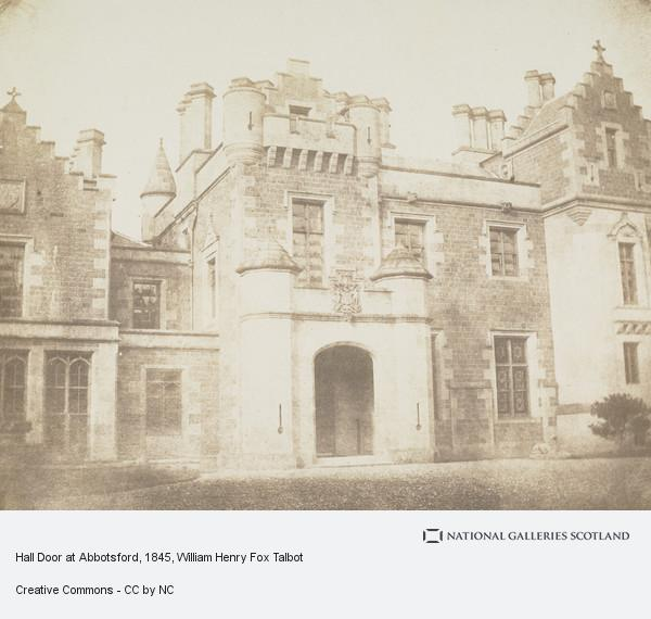 William Henry Fox Talbot, Hall Door at Abbotsford