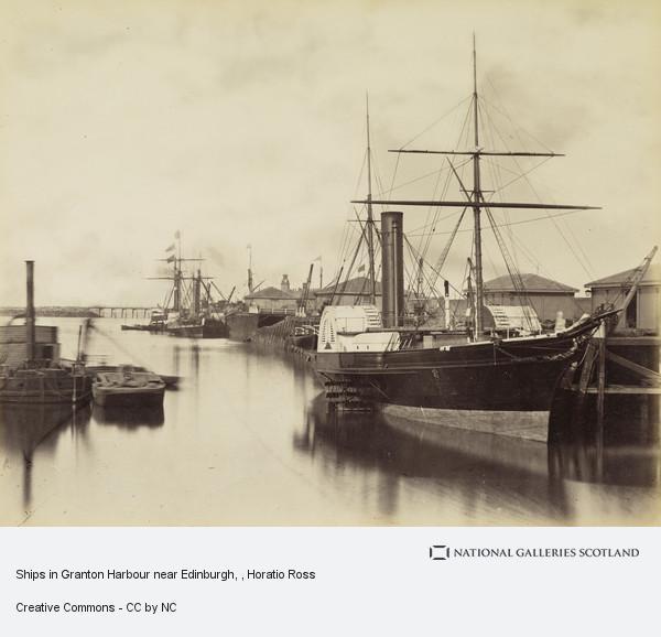 Horatio Ross, Ships in Granton Harbour near Edinburgh