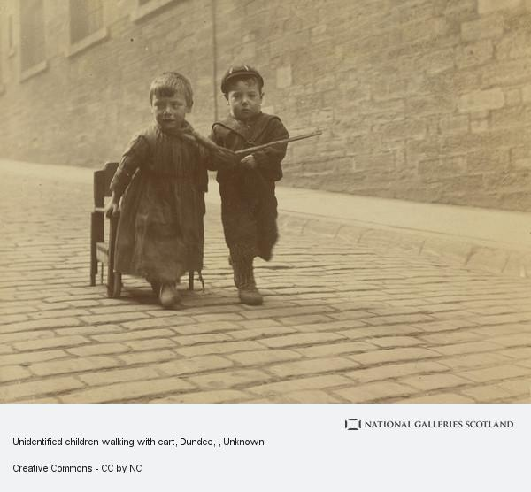 Unknown, Children Walking with Cart, Dundee