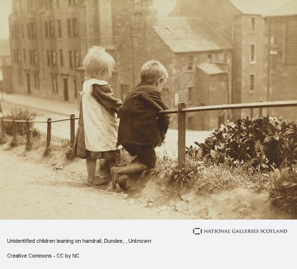 Unknown, Children Leaning on Handrail, Dundee