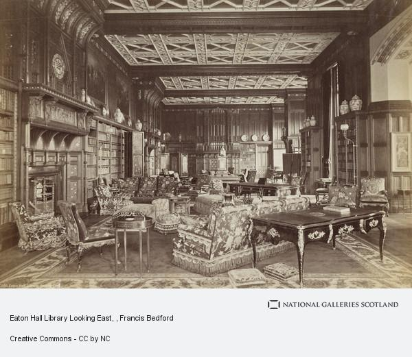Francis Bedford, Eaton Hall Library Looking East
