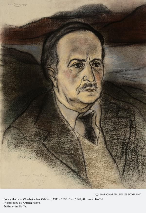 Alexander Moffat, Sorley MacLean (Somhairle MacGill-Eian), 1911 - 1996. Poet
