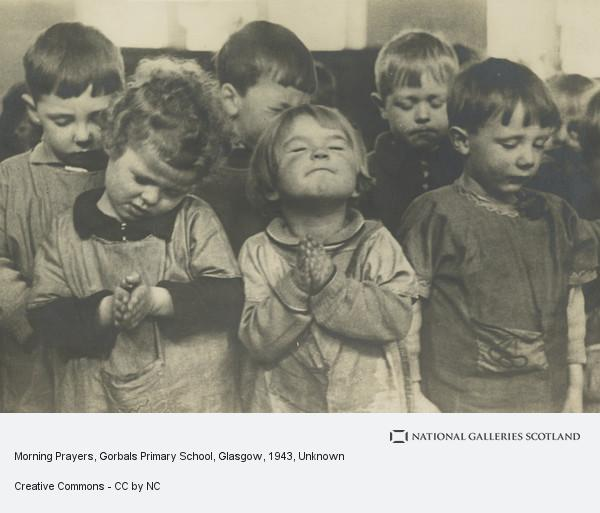 Unknown, Morning Prayers, Gorbals Primary School, Glasgow