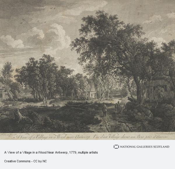 Meindert Hobbema, A View of a Village in a Wood Near Antwerp