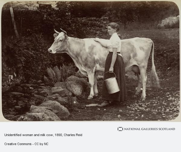 Charles Reid, Woman and Milk Cow