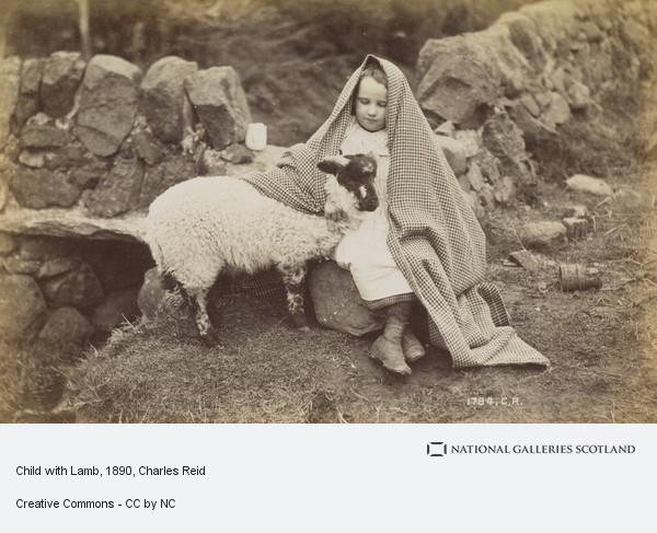 Charles Reid, Child with Lamb