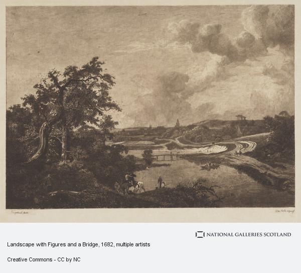 William Brassey Hole, Landscape with Figures and a Bridge