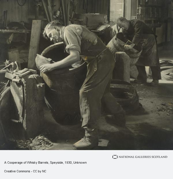 Unknown, A Cooperage of Whisky Barrels, Speyside