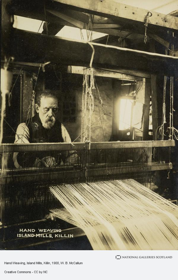 W. B. McCallum, Hand Weaving, Island Mills, Killin