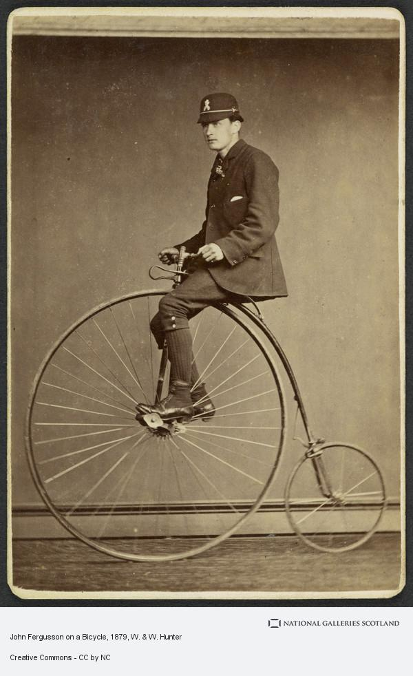W. & W. Hunter, John Fergusson on a Bicycle