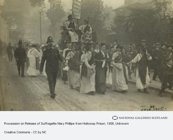 Unknown, Procession on Release of Suffragette Mary Phillips from Holloway Prison