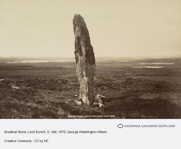 George Washington Wilson, Druidical Stone, Loch Eynort, South Uist