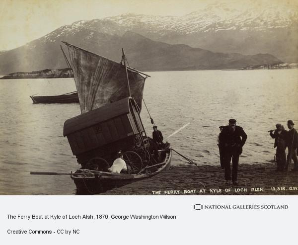George Washington Wilson, Ferry Boat at Kyle of Loch Alsh