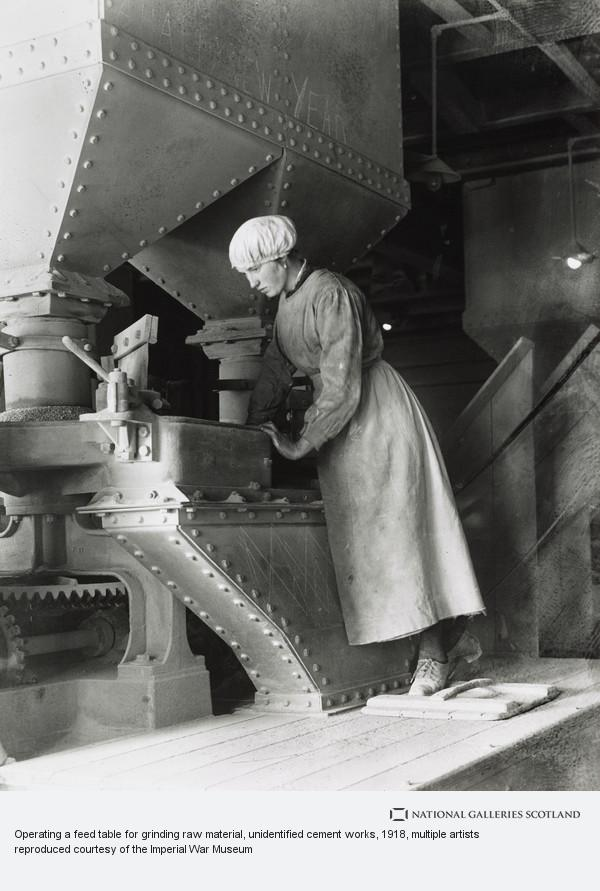 George P. Lewis, Operating a feed table for grinding raw material, unidentified cement works