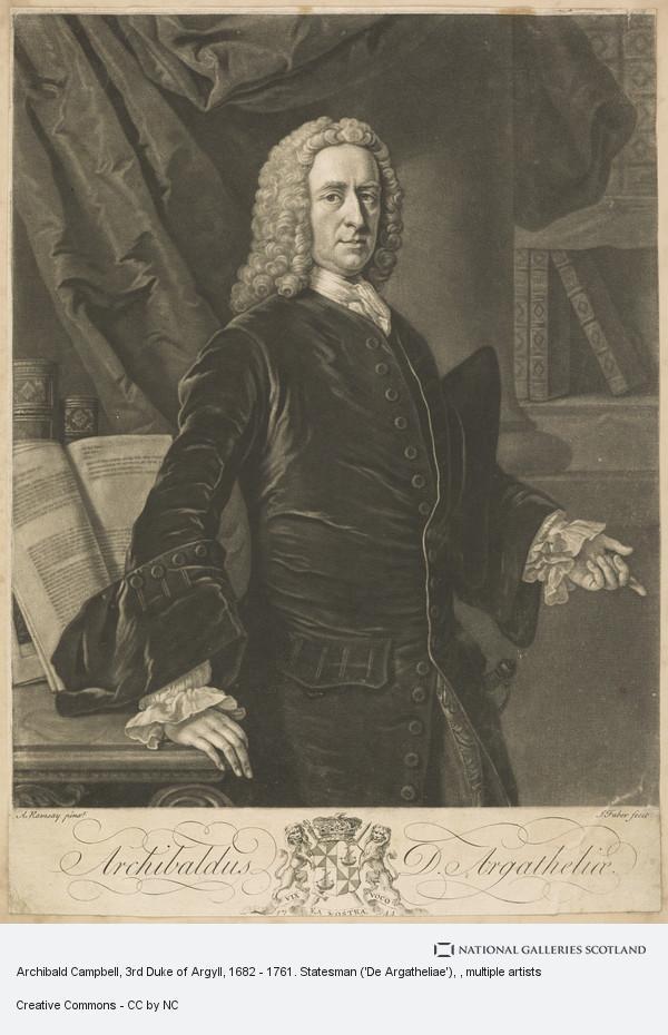 Allan Ramsay, Archibald Campbell, 3rd Duke of Argyll, 1682 - 1761. Statesman ('De Argatheliae')