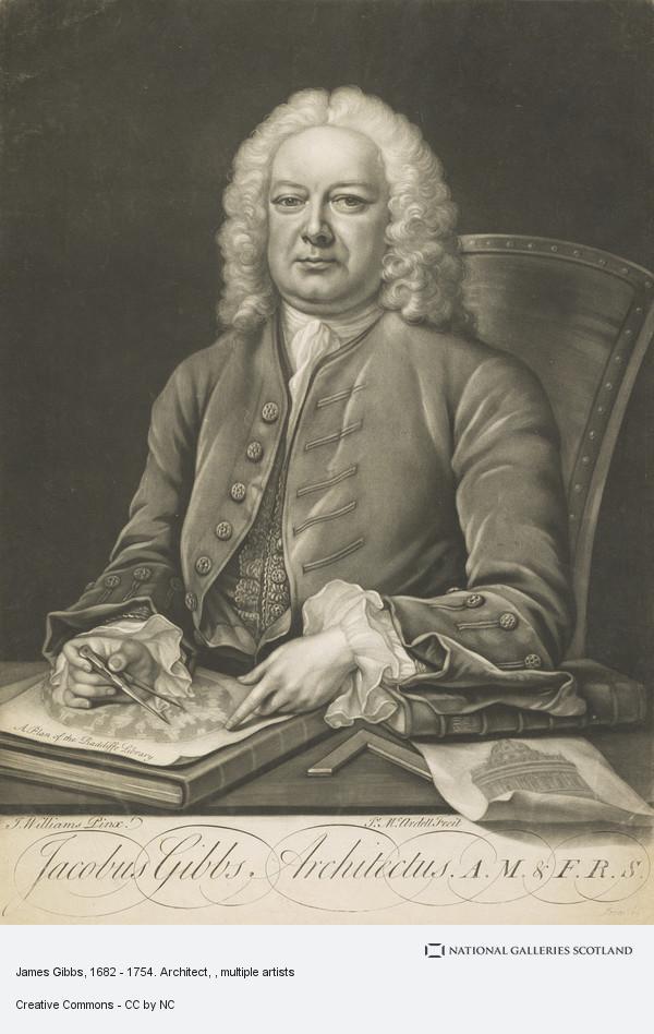 James McArdell, James Gibbs, 1682 - 1754. Architect