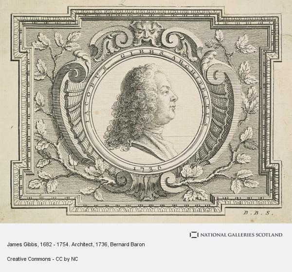 Bernard Baron, James Gibbs, 1682 - 1754. Architect