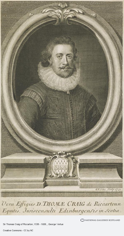 George Vertue, Sir Thomas Craig of Riccarton, 1538 - 1608