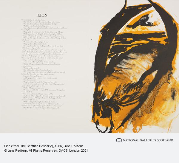 June Redfern, Lion (from 'The Scottish Bestiary')