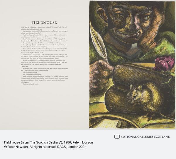 Peter Howson, Fieldmouse (from 'The Scottish Bestiary')
