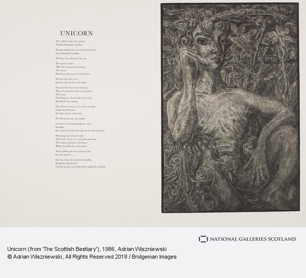 Adrian Wiszniewski, Unicorn (from 'The Scottish Bestiary')