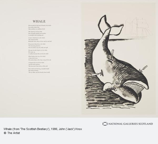 John ('Jack') Knox, Whale (from 'The Scottish Bestiary')