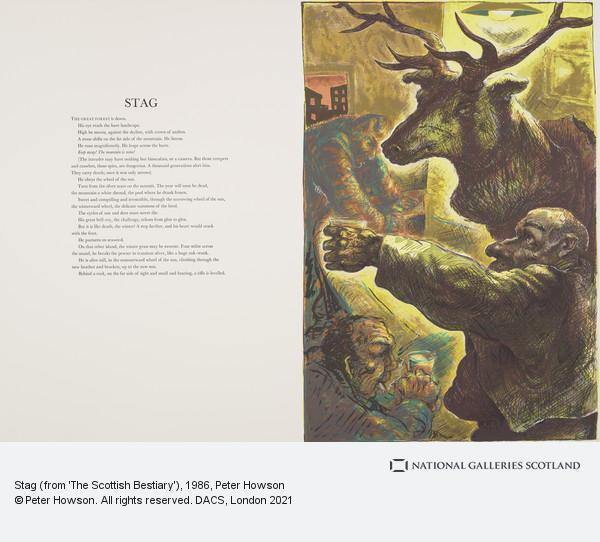 Peter Howson, Stag (from 'The Scottish Bestiary')