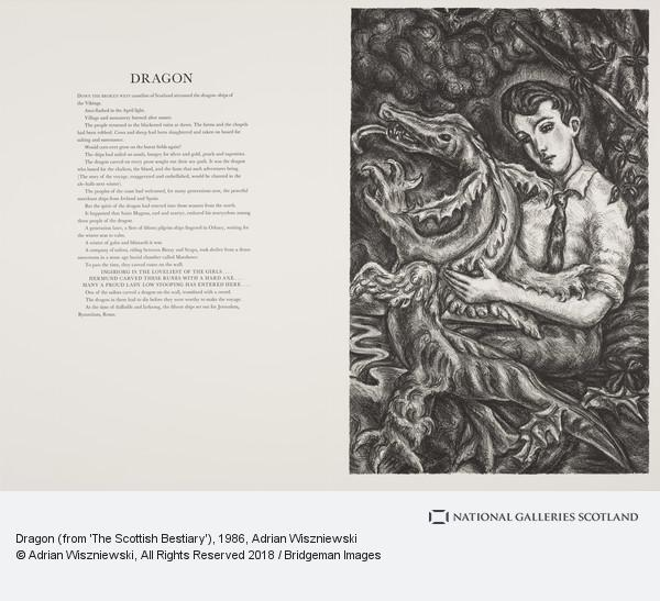 Adrian Wiszniewski, Dragon (from 'The Scottish Bestiary')