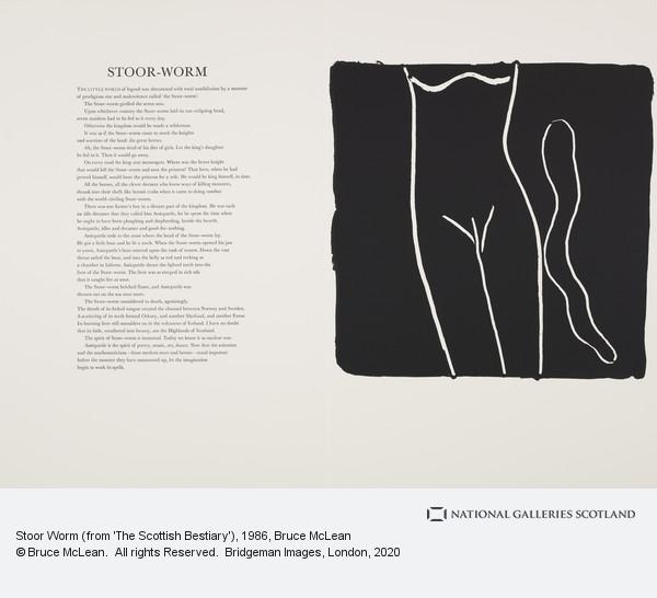 Bruce McLean, Stoor Worm (from 'The Scottish Bestiary')