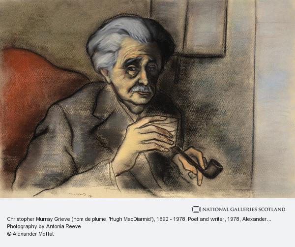 Alexander Moffat, Christopher Murray Grieve (nom de plume, 'Hugh MacDiarmid'), 1892 - 1978. Poet and writer