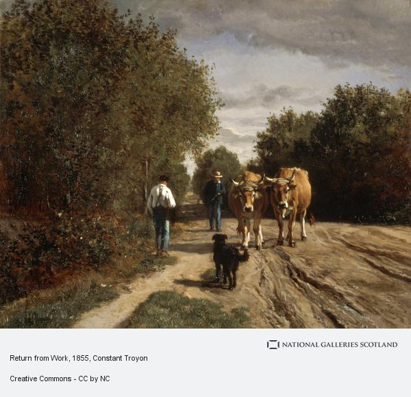 Constant Troyon, Return from Work (About 1855)