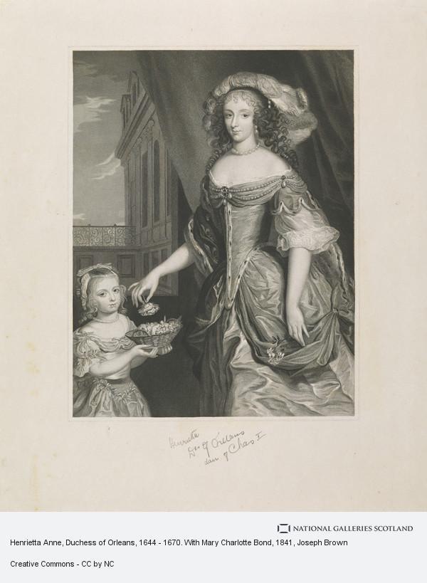 Joseph Brown, Henrietta Anne, Duchess of Orleans, 1644 - 1670. With Mary Charlotte Bond