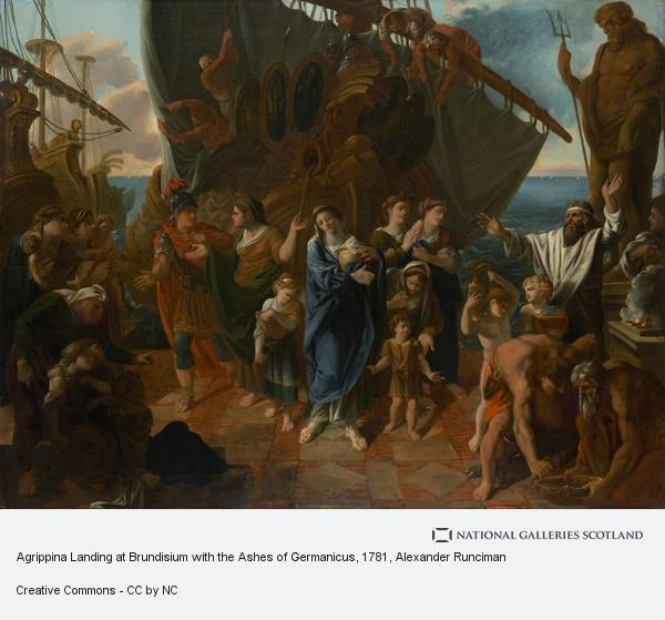 Alexander Runciman, Agrippina Landing at Brundisium with the Ashes of Germanicus