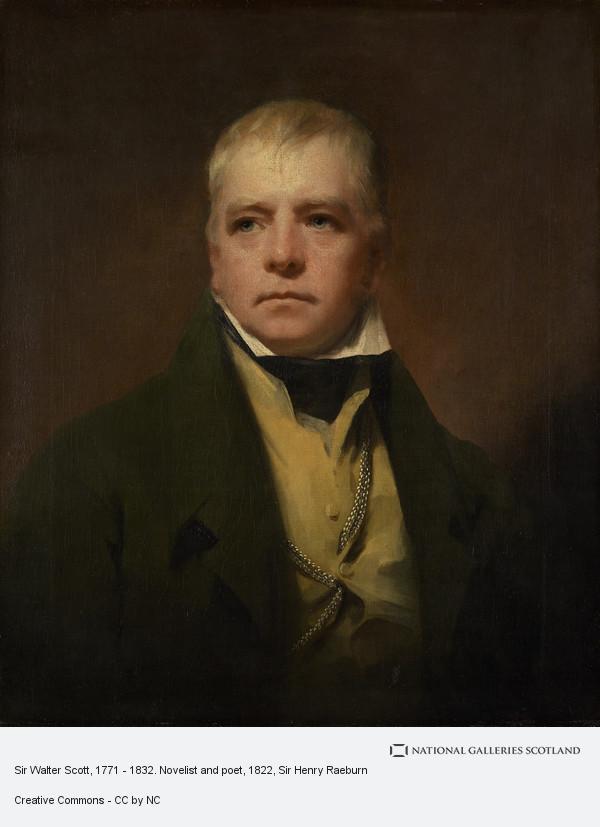 Sir Henry Raeburn, Sir Walter Scott, 1771 - 1832. Novelist and poet