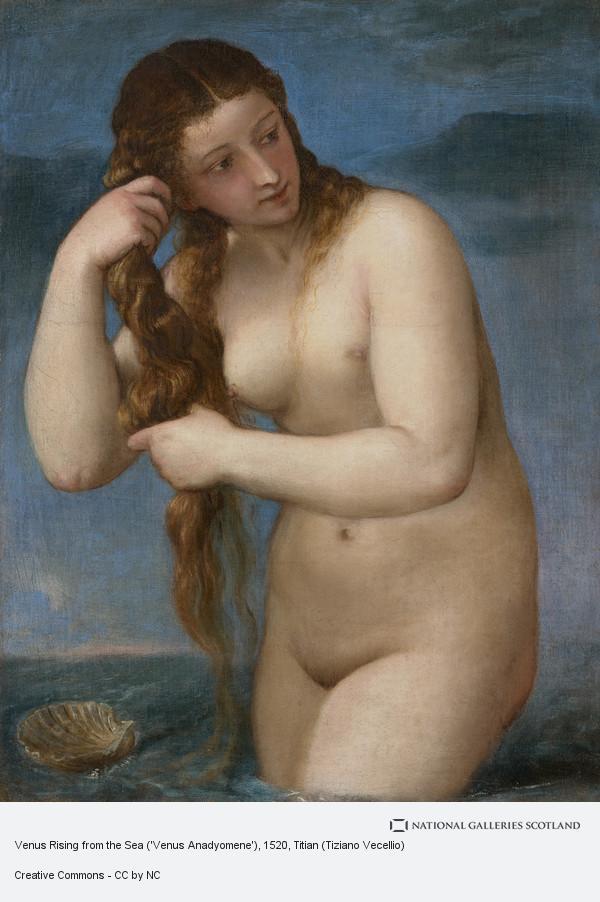 Titian (Tiziano Vecellio), Venus Rising from the Sea ('Venus Anadyomene')