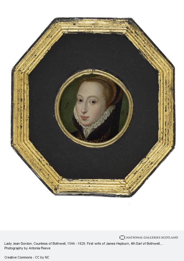Unknown, Lady Jean Gordon, Countess of Bothwell, 1544 - 1629. First wife of James Hepburn, 4th Earl of Bothwell