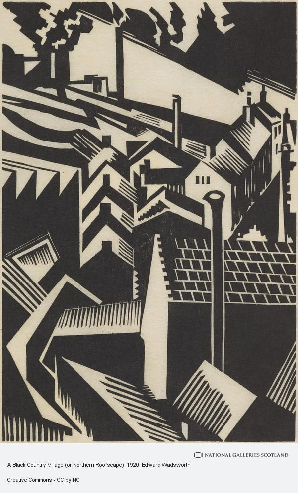 Edward Wadsworth, A Black Country Village (or Northern Roofscape)