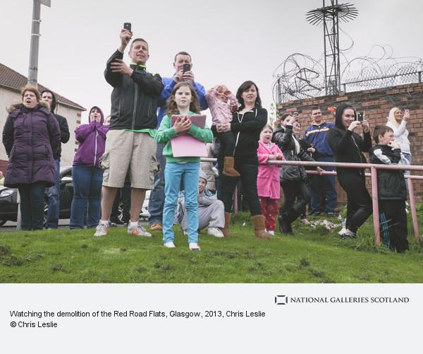 Chris Leslie, Watching the demolition of the Red Road Flats, Glasgow