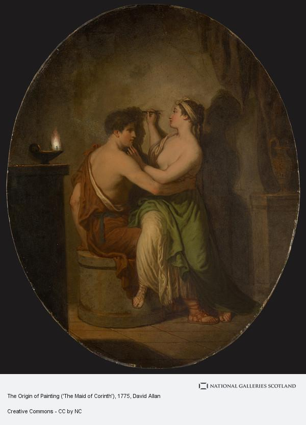 David Allan, The Origin of Painting ('The Maid of Corinth')