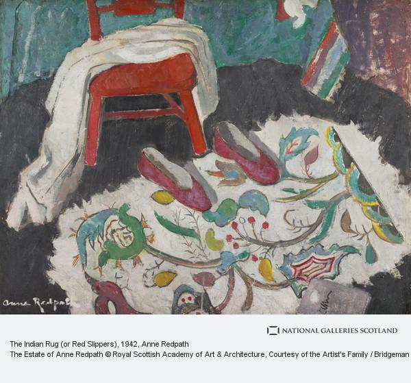 Anne Redpath, The Indian Rug (or Red Slippers)