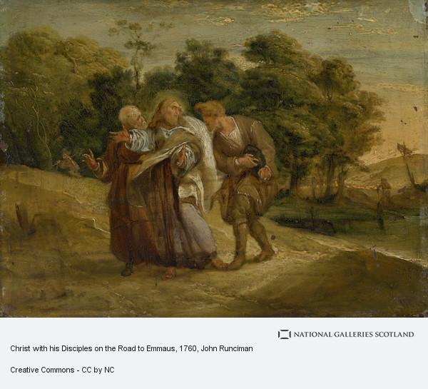 John Runciman, Christ with his Disciples on the Road to Emmaus
