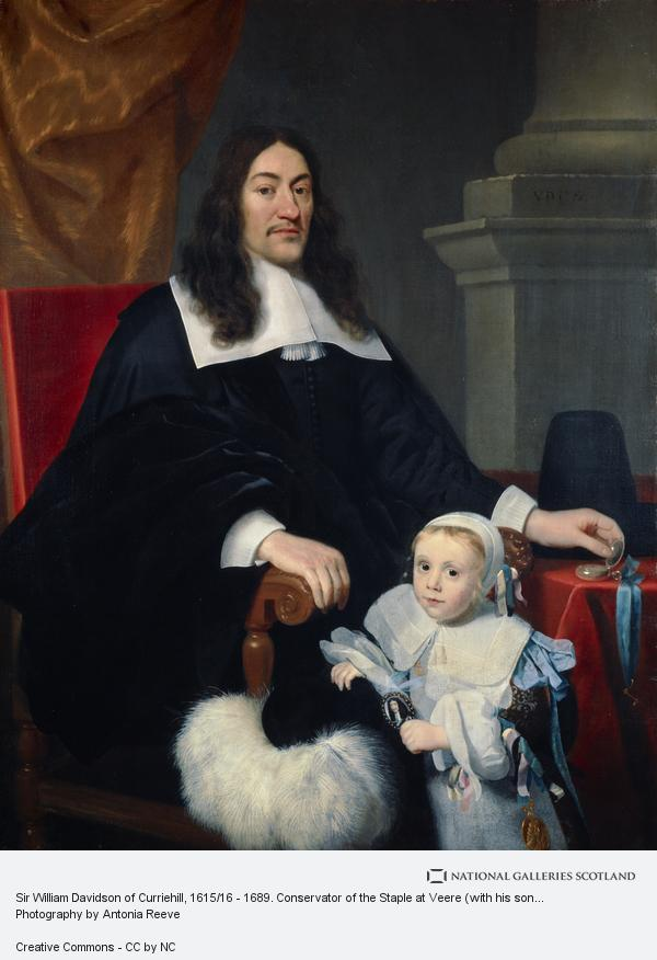 Abraham Lambertsz van den Tempel, Sir William Davidson of Curriehill, 1615/16 - 1689. Conservator of the Staple at Veere (with his son Charles) (About 1664)