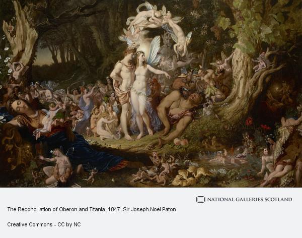 The Quarrel of Oberon and Titania J N Paton Print