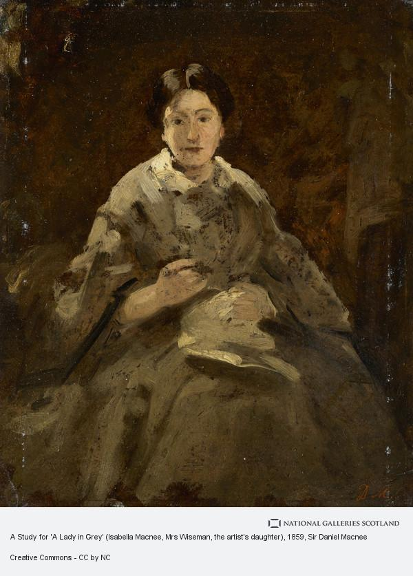 Sir Daniel Macnee, A Study for 'A Lady in Grey' (Isabella Macnee, Mrs Wiseman, the artist's daughter)
