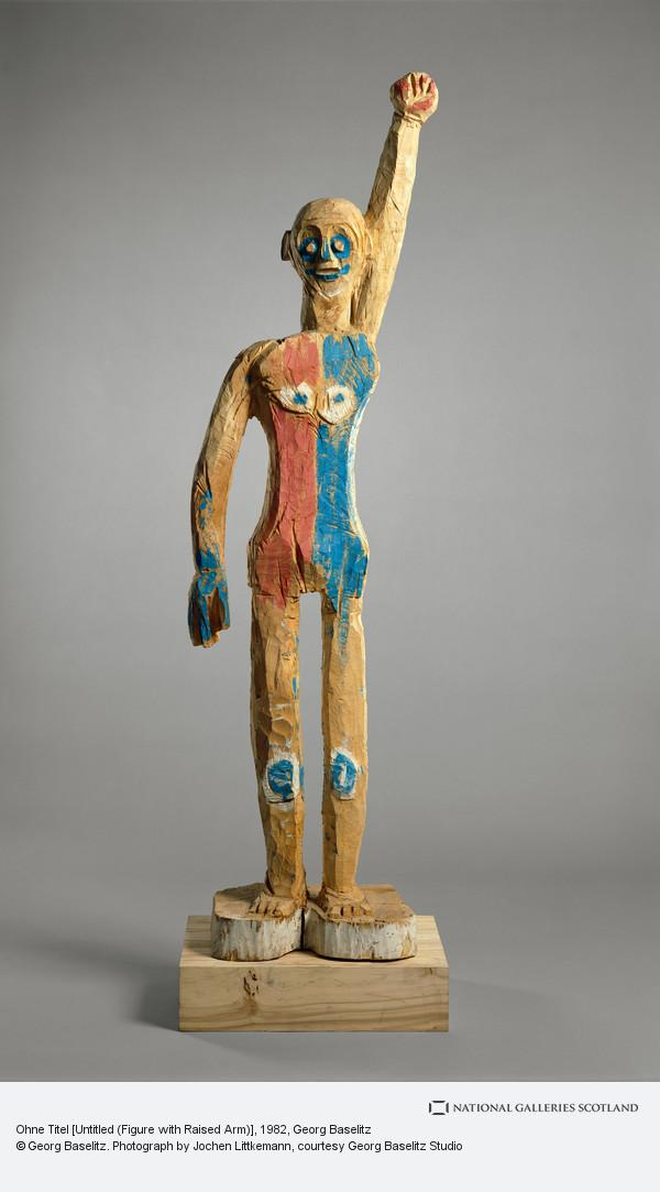 Georg Baselitz, Ohne Titel [Untitled (Figure with Raised Arm)]